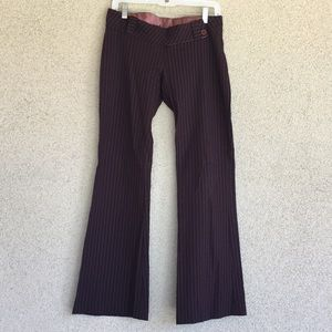💋3 for $15! Papaya Brown Pinstriped Pants Medium.